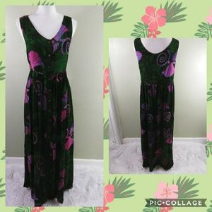 Bali Moon Hawaii Batik Button Down Dress L NWOT
